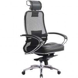 """Кресло компьютерное м/к """"Samurai SL-2.02"""" c 3D подголовником, Чёрный"""