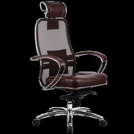 """Кресло компьютерное м/к """"Samurai SL-2.02"""" c 3D подголовником, Тёмно-коричневый"""