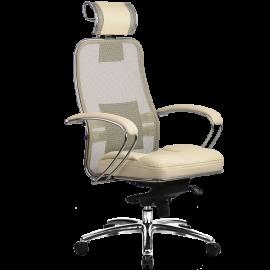 """Кресло компьютерное м/к """"Samurai SL-2.02"""" c 3D подголовником, Бежевый"""
