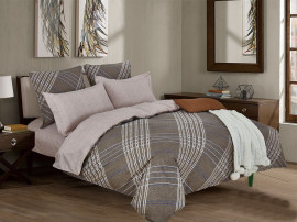 Комплект постельного белья 2сп сатин люкс набивной Клео (SL-323)