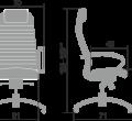 """Кресло компьютерное м/к """"Samurai KL-1.02"""" Чёрный"""