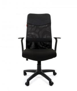 """Кресло офисное """"CHAIRMAN 610""""  экокожа/ткань 15-21 чёрный"""