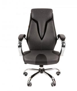 """Кресло офисное """"CHAIRMAN 901"""" экокожа экопремиум чёрный/серый"""