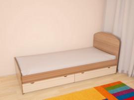 """Детская """"Глобус 5"""" кровать с ящиками, без матраса."""