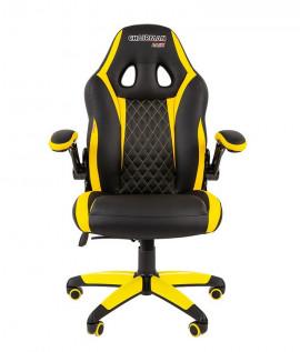 """Кресло офисное """"CHAIRMAN GAME 15"""" экокожа экопремиум чёрный/желтый"""