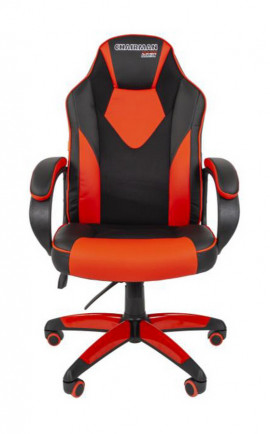 """Кресло офисное """"CHAIRMAN GAME 17"""" экокожа экопремиум чёрный/красный"""