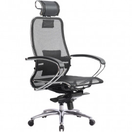 """Кресло компьютерное м/к """"Samurai S-2.02"""" с 3D подголовником, Чёрный"""