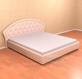 """Кровать """"Жаклин"""" кожа с мягкой спинкой без ортоп. основ."""
