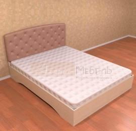 """Кровать """"Грация"""" с мягкой спинкой без ортоп.основ"""