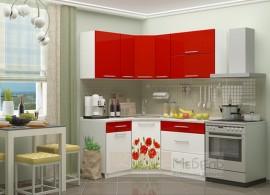"""Кухня угловая """"Красные маки 1,33"""""""