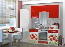"""Кухня """"Красные маки 1,6"""""""