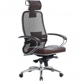 Кресло компьютерное м/к Samurai SL-2.03 тёмно-коричневый