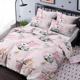"""Комплект постельного белья детский 1,5 спальный поплин """"Ночь нежна"""" (Кошечки-принцессы)"""