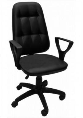 """Кресло компьютерное  """"Премьер 3"""" (Н) кожзам  Чёрный, крестовина пластик"""