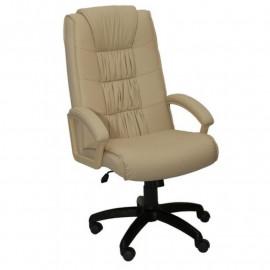 """Кресло компьютерное п/к """"Фортуна 5"""" (1) кожзам Бежевый, пластик чёрный"""