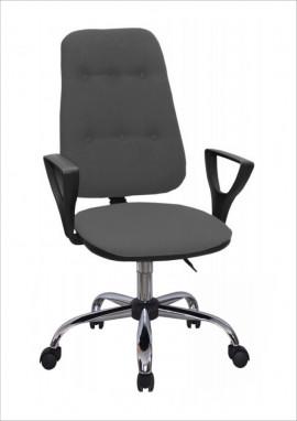 """Кресло компьютерное """"Премьер 3"""" (Н) материал Серый, крестовина хром"""