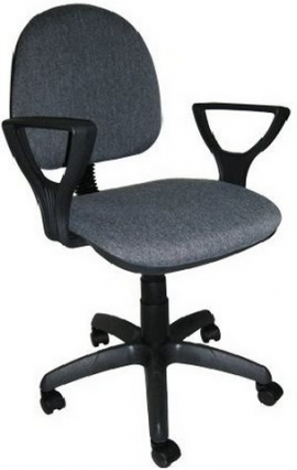 """Кресло компьютерное  """"Фаворит 1""""  материал Серый, крестовина пластик"""