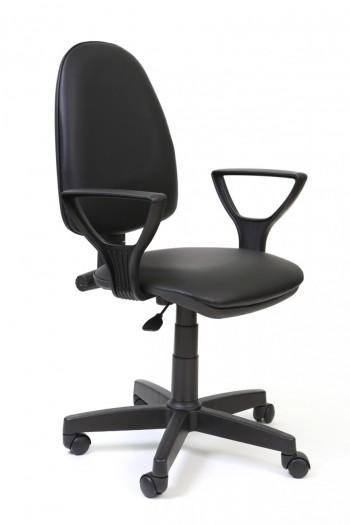 """Кресло компьютерное  """"Престиж Polo"""" кожзам Чёрный, крестовина пластик"""